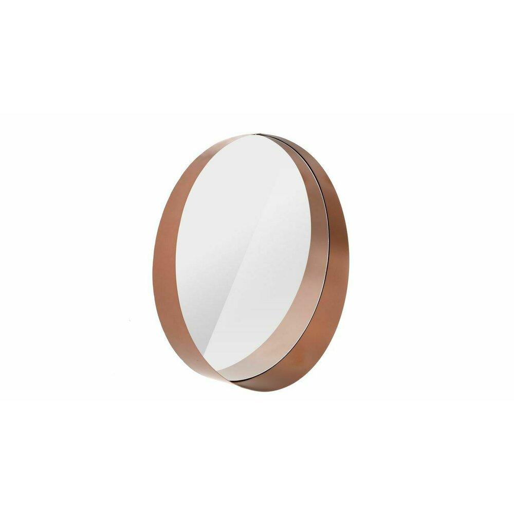 Oglinda rotunda 60 cm Rea rama tridimensionala rose gold HS-190160 neakaisa.ro