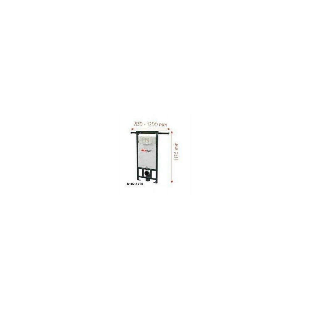Rezervor WC ingropat Alcaplast Jadromodul ce poate fi adaptat intre pereti inaltime de instalare 1,2 m poza