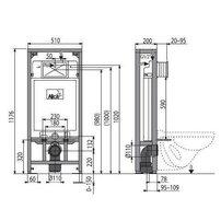 Rezervor WC ingropat Alcaplast Solomodul destinat instalarii uscate sustinere proprie inaltime de instalare 1.2 m