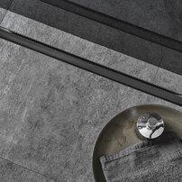 Set complet rigola Geberit CleanLine 80 negru periat lungime 30-90 cm inaltime 65-90mm