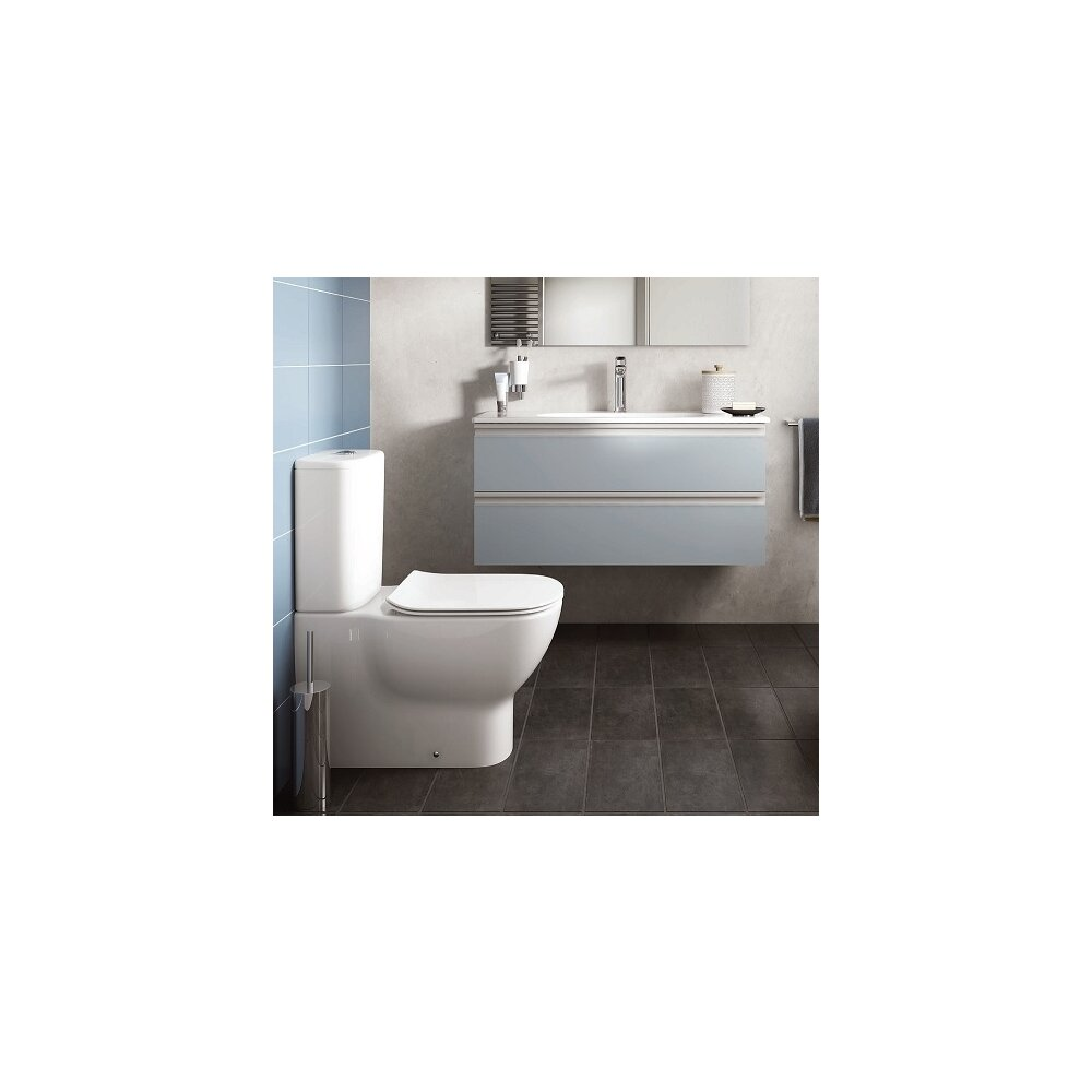 Set vas wc btw cu rezervor si capac slim softclose Ideal Standard Tesi Aquablade poza