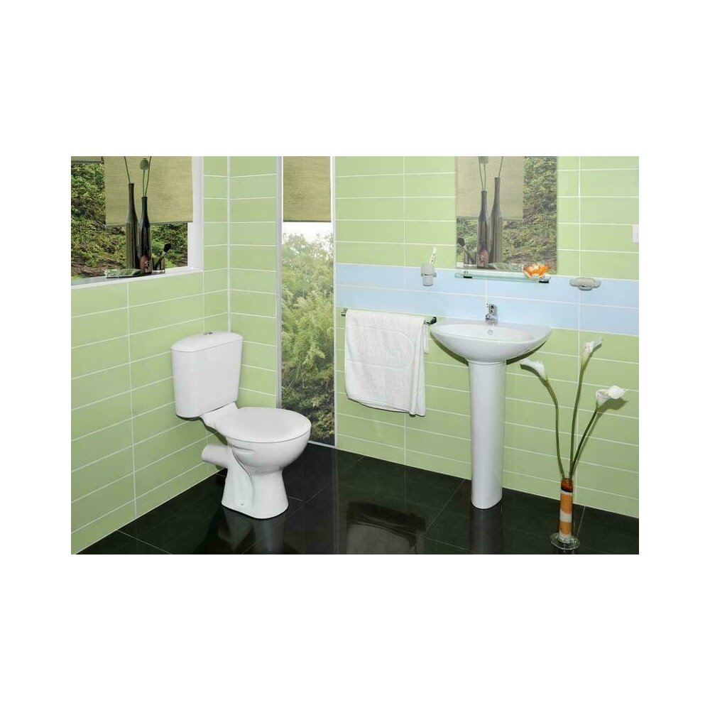 Vidima Set Complet Vas Toaleta Rezervor Capac Iesire Orizontala Sevaloop