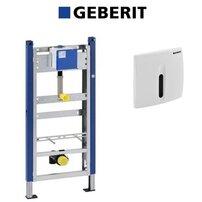 Set de instalare Geberit Prepack pentru pisoar cu senzor si clapeta alba