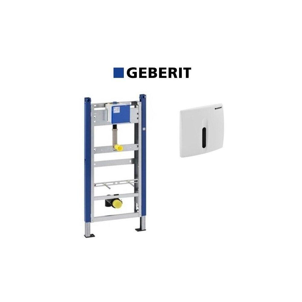 Set de instalare Geberit Prepack pentru pisoar cu senzor si clapeta alba imagine