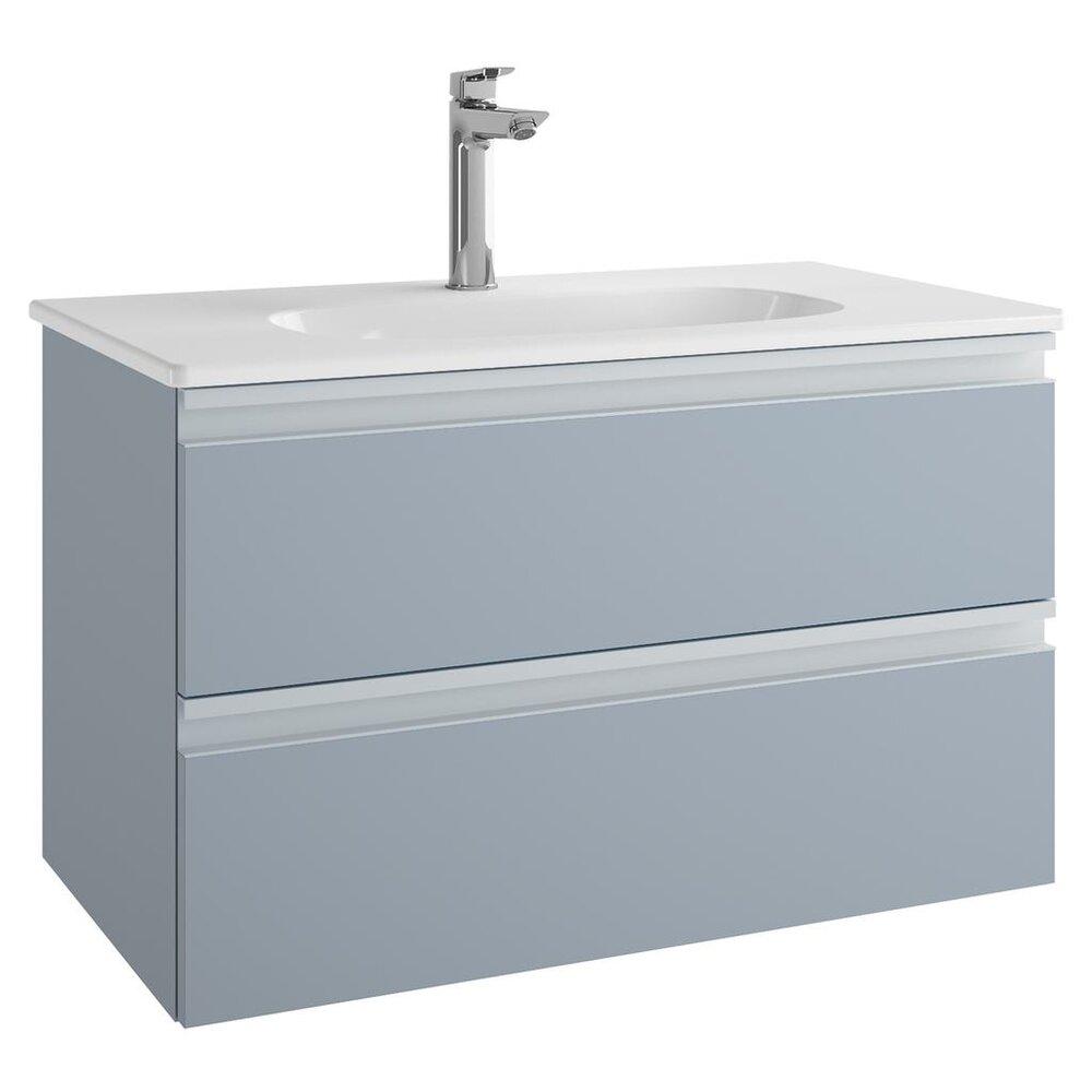 Set dulap suspendat si lavoar Ideal Standard Tesi mdf albastru 80 cm