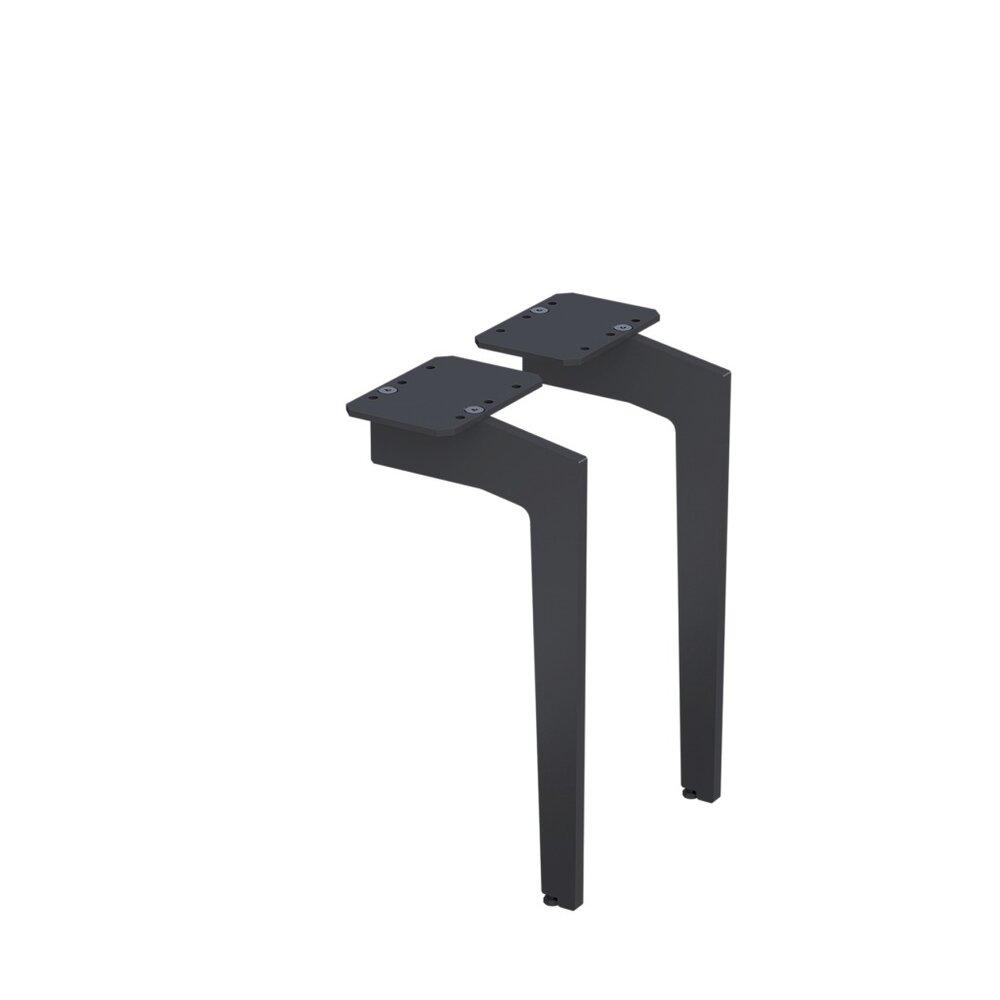Set picioare pentru mobilier Oristo negru mat 33 cm imagine