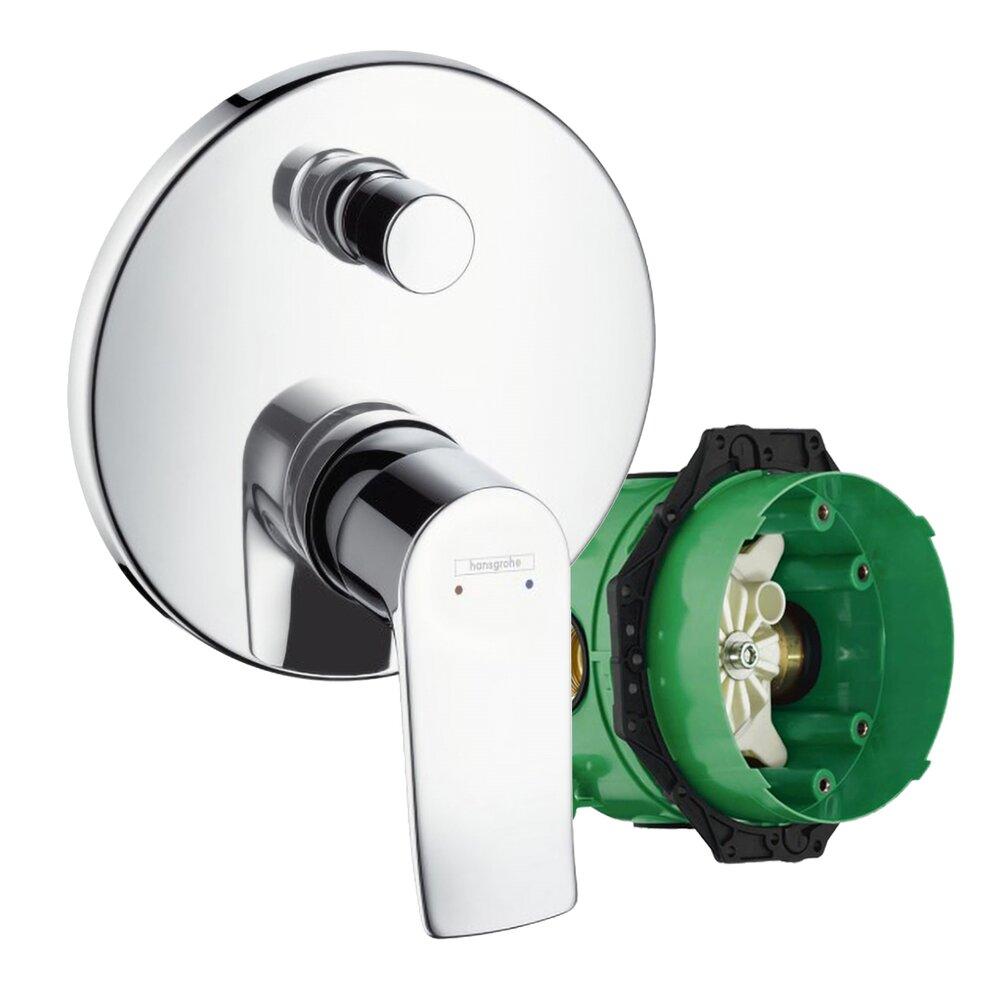 Set promo baterie dus incastrata Hansgrohe Metris pentru 2 consumatori + iBox