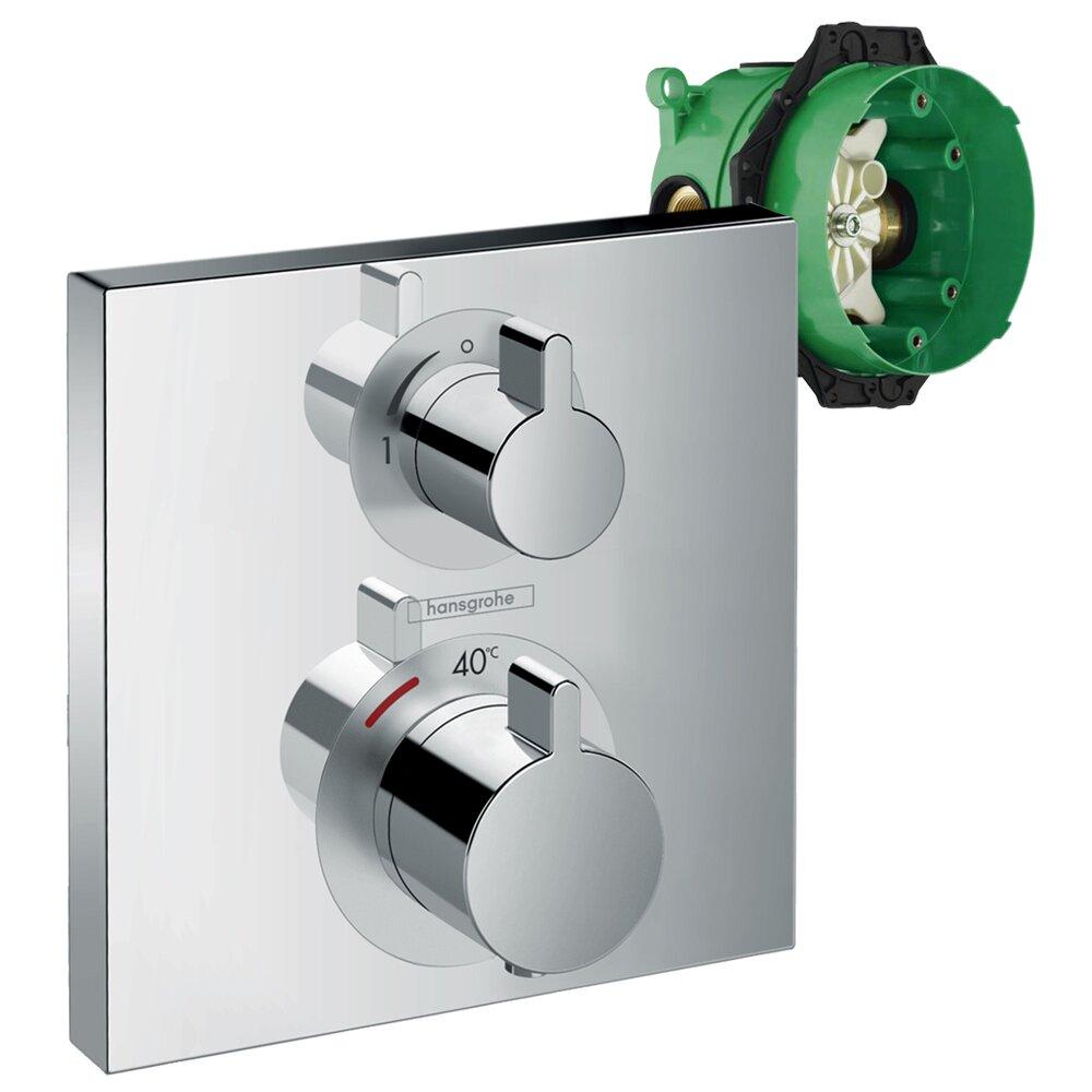 Set Baterie Dus Termostatata Ecostat Square Montaj - 4555