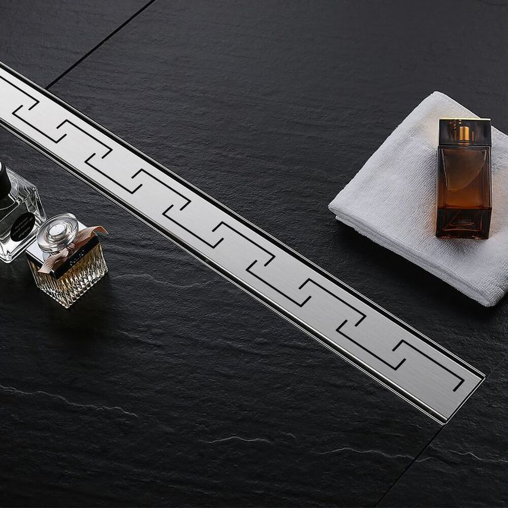 Set rigola pentru dus plus capac 70 cm Rea Greek Inox poza
