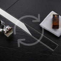 Set rigola pentru dus plus capac 70 cm Rea Pure Neo Inox