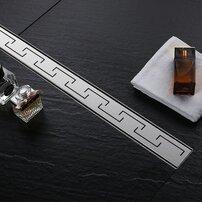 Set rigola pentru dus plus capac 90 cm Rea Greek Inox