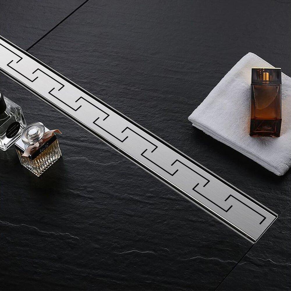 Set rigola pentru dus plus capac 90 cm Rea Greek Inox poza