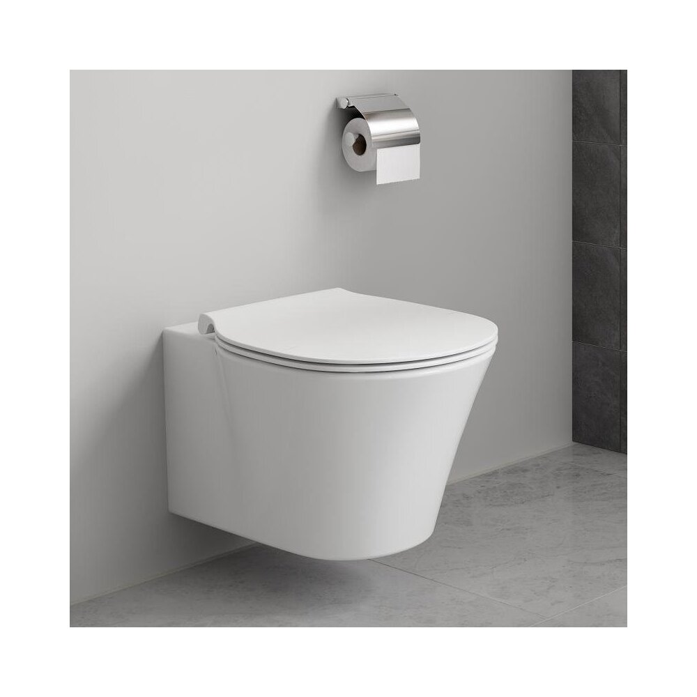 Set vas wc suspendat Connect Air Aquablade cu capac slim soft close imagine neakaisa.ro