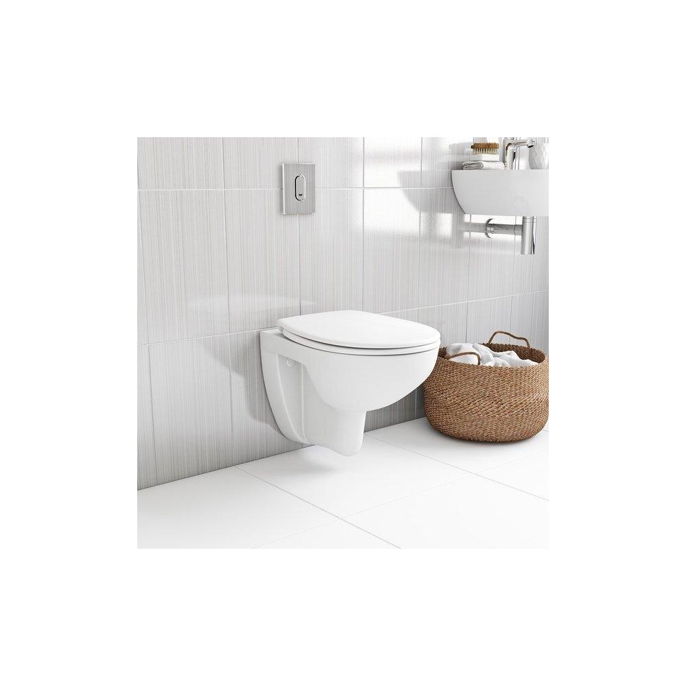 Set Vas Toaleta Suspendat Capac Softclose Bau Ceramic Rimless