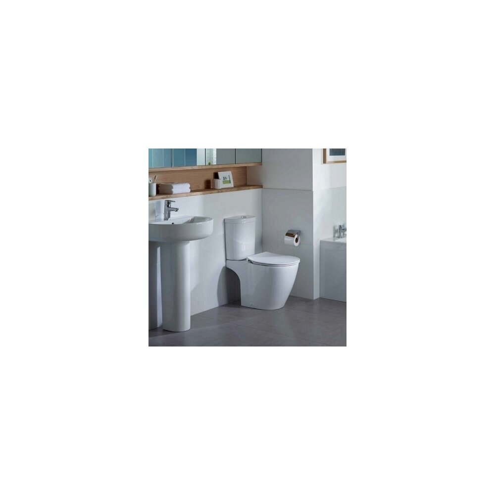 Set vas wc pe pardoseala capac slim softclose si rezervor Arc Ideal Standard Connect Aquablade