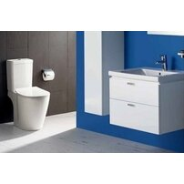 Set vas wc pe pardoseala capac slim softclose si rezervor Cube Ideal Standard Connect Aquablade