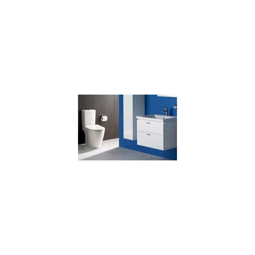 Set vas wc pe pardoseala capac slim softclose si rezervor Cube Ideal Standard Connect Aquablade imagine neakaisa.ro