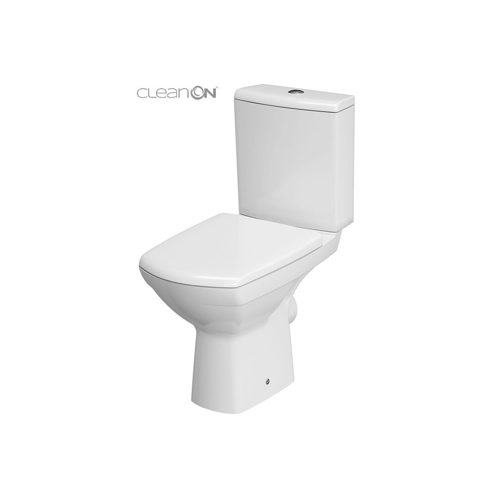 Set vas wc pe pardoseala Cersanit Carina New Clean On cu rezervor si capac inchidere lenta poza