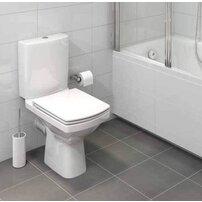 Set vas wc pe pardoseala Cersanit Easy New Clean On cu rezervor si capac inchidere lenta