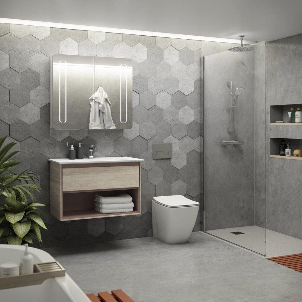 Set vas wc pe pardoseala cu capac slim soft close Ideal Standard Strada II AquaBlade BackToWall imagine