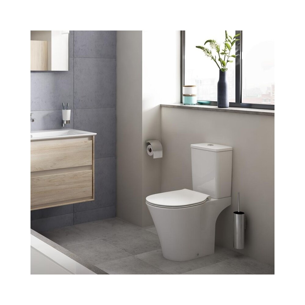 Set vas wc pe pardoseala cu rezervor si capac softclose Ideal Standard Connect Air Rimless poza