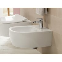 Set vas wc si bideu suspendat Villeroy&Boch Avento Direct Flush cu capac slim soft close