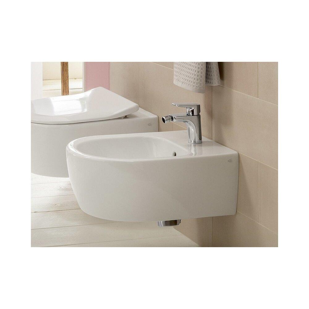Set vas wc si bideu suspendat Villeroy&Boch Avento Direct Flush cu capac slim soft close neakaisa.ro