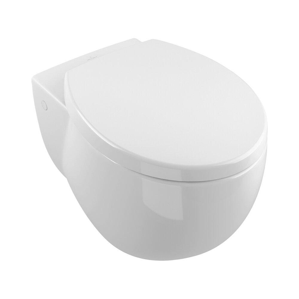 Set vas wc si bideu suspendat Villeroy&Boch Aveo New Generation cu capac soft close