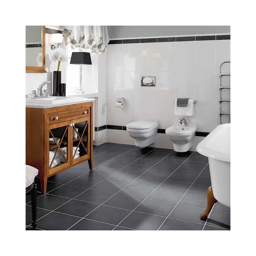 Set vas wc si bideu suspendat Villeroy&Boch Hommage cu capac soft close neakaisa.ro