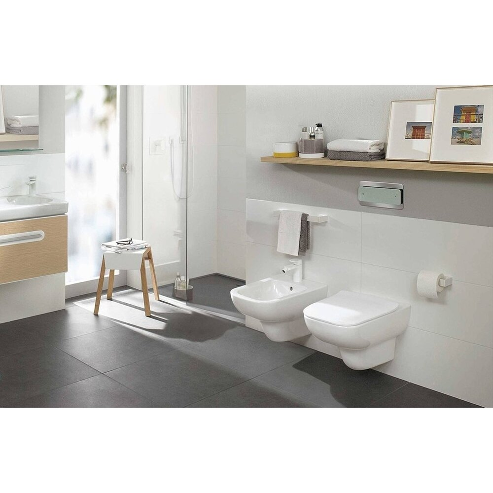 Foto Set Vas Wc Bideu Suspendat Joyce Direct Flush Capac Slim Soft Close Villeroy Boch