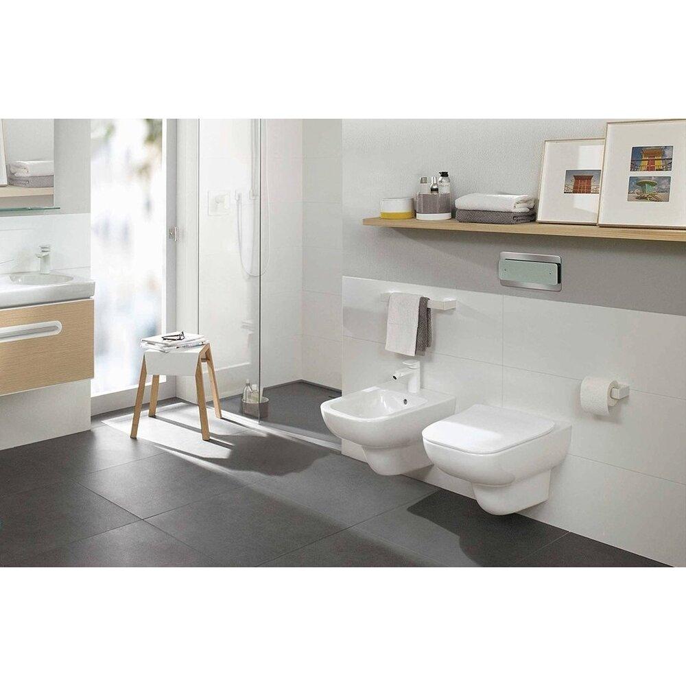 Set vas wc si bideu suspendat Villeroy&Boch Joyce Direct Flush cu capac slim soft close imagine