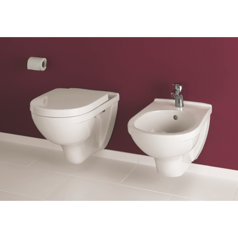 Set vas wc si bideu suspendat Villeroy&Boch O.Novo cu capac soft close imagine neakaisa.ro