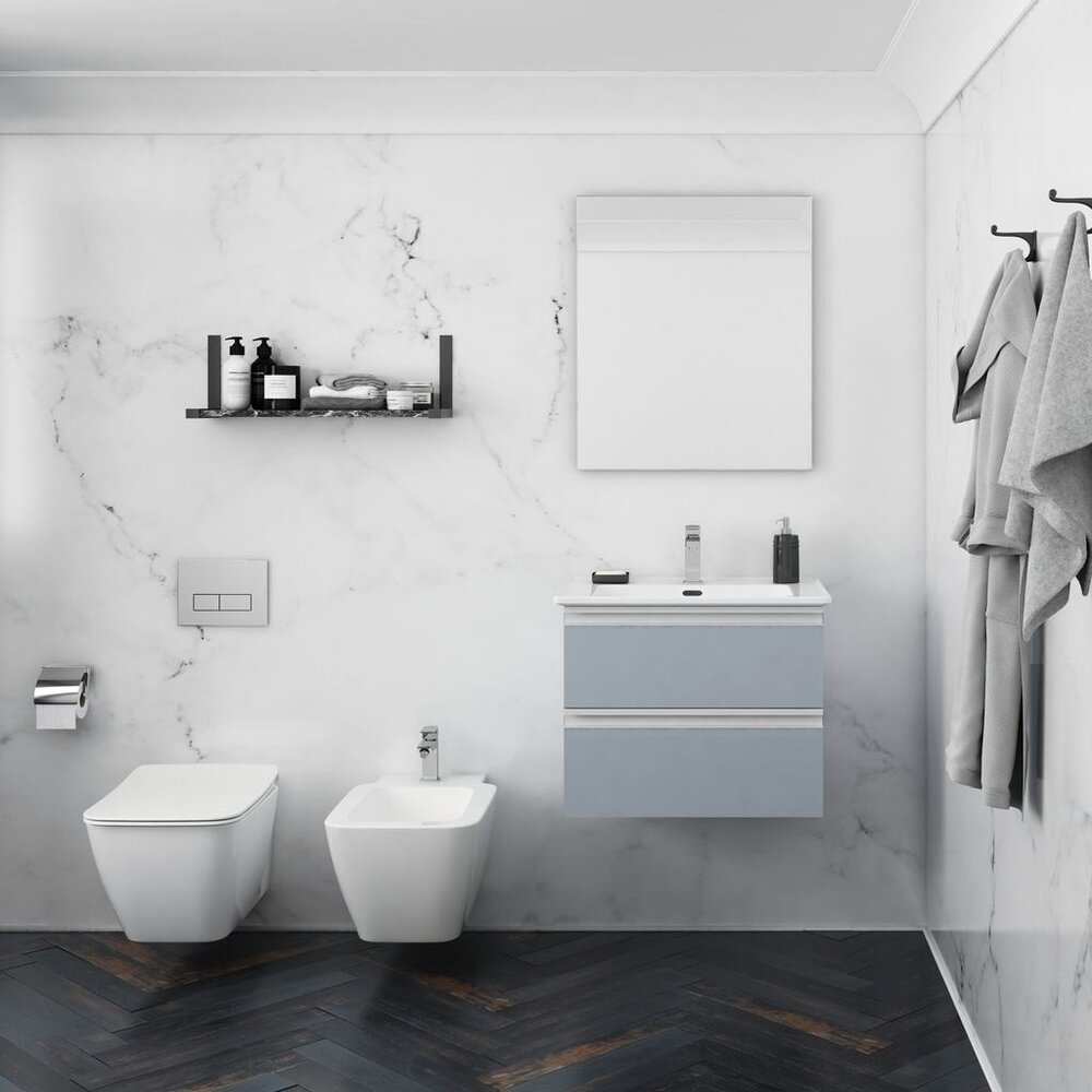 Set vas wc suspendat bideu suspendat si capac slim soft close Ideal Standard Strada II AquaBlade poza
