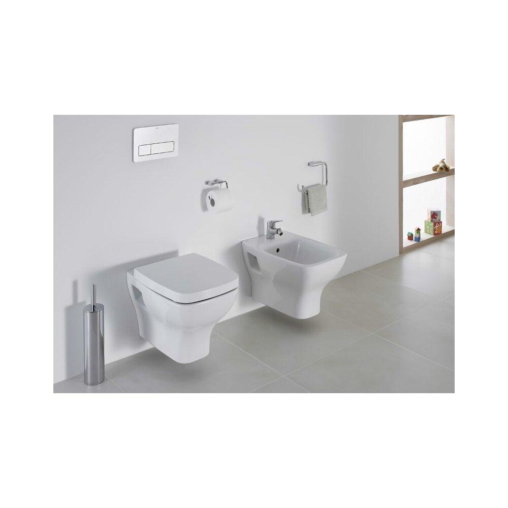 Set vas wc suspendat cu capac softclose si bideu suspendat Gala Street Square imagine