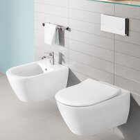 Set vas wc cu bideu suspendat Villeroy&Boch Subway 2.0 DirectFlush si capac slim soft close