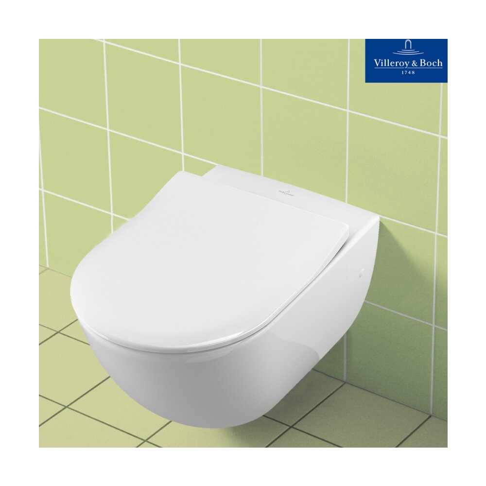 Set Vas Wc Suspendat Capac Slim Soft Close Subway