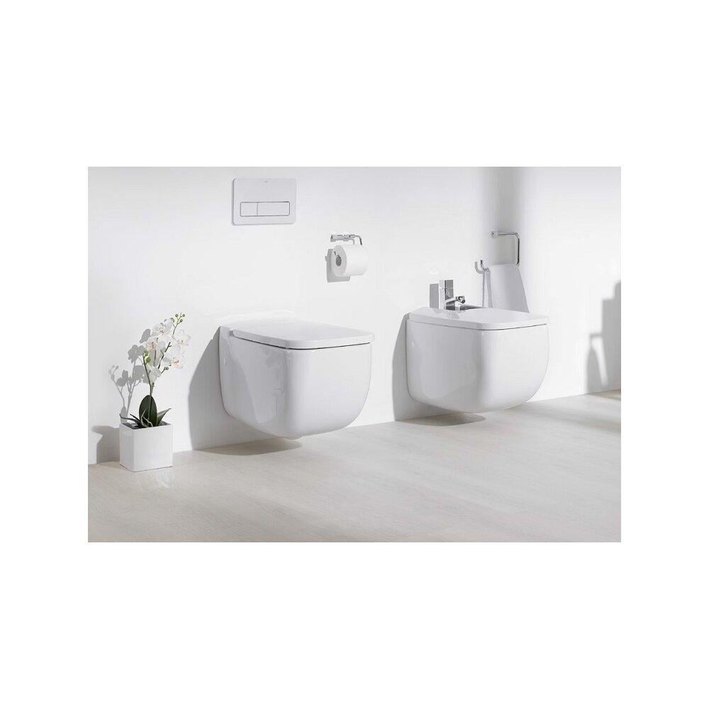Set vas wc suspendat cu capac softclose si bideu Gala Eos imagine