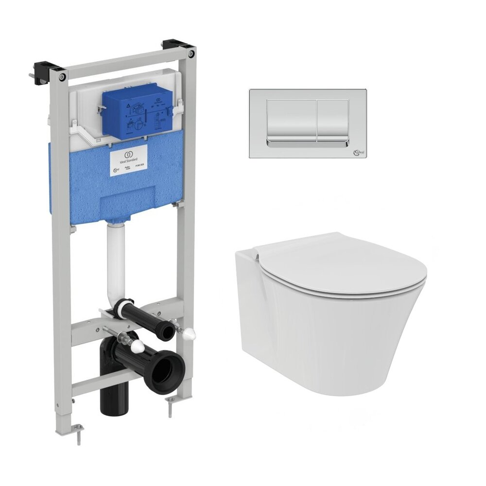Set vas wc suspendat Ideal Standard Connect Air AquaBlade cu capac inchidere lenta si rezervor Ideal Standard Prosys imagine