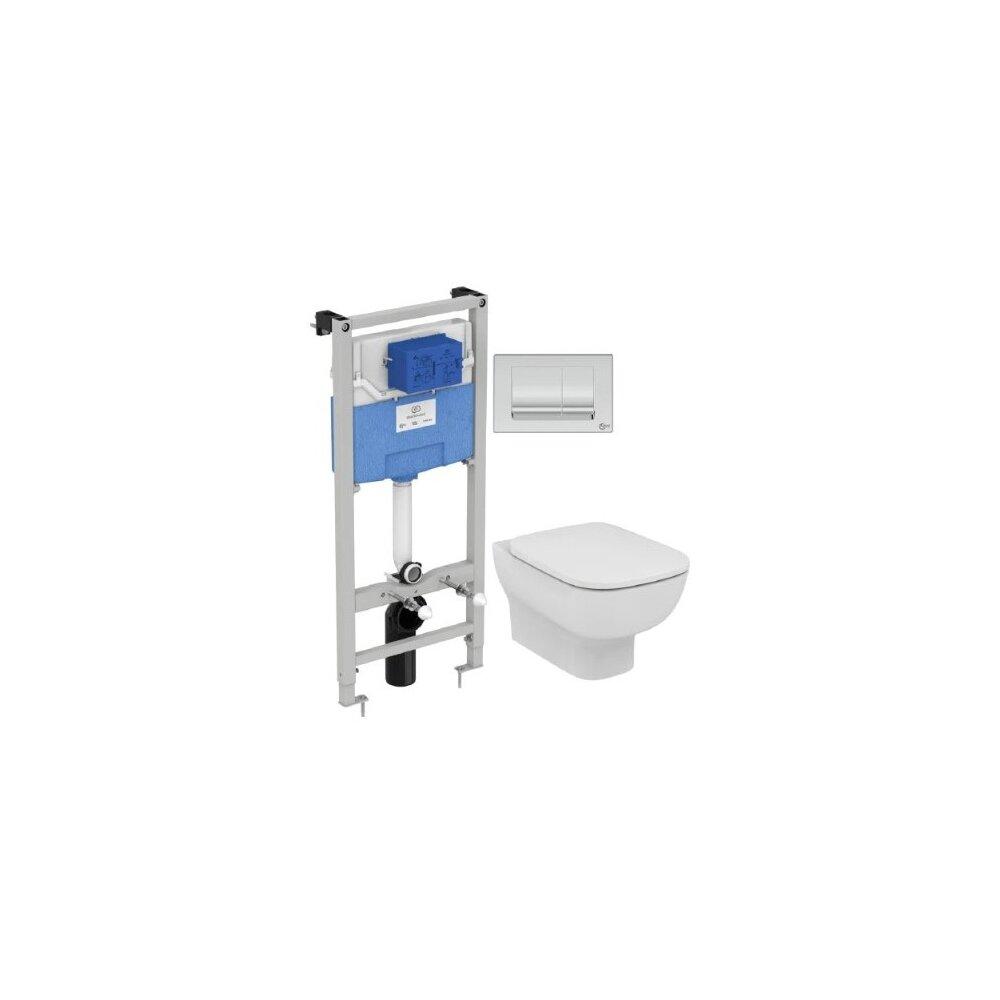 Set vas wc suspendat Ideal Standard Esedra AquaBlade cu capac inchidere lenta si rezervor Ideal Standard Prosys poza