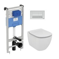Set vas wc suspendat Ideal Standard Tesi AquaBlade cu capac inchidere lenta si rezervor Ideal Standard Prosys