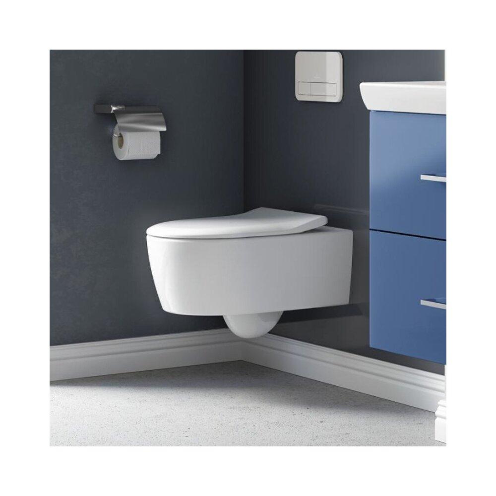 Set Vas Wc Suspendat Avento Direct Flush Capac Slim Soft Close