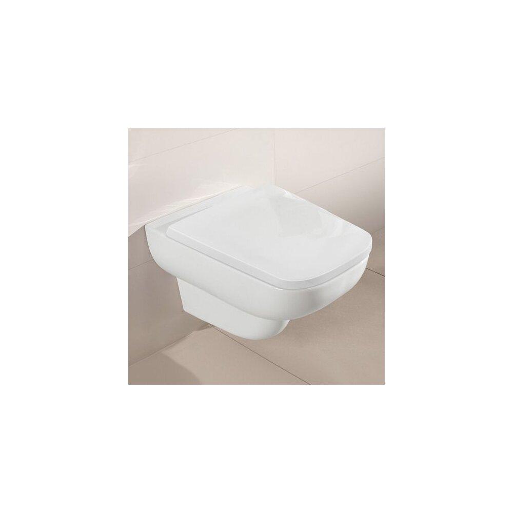 Set vas wc suspendat Villeroy&Boch Joyce Direct Flush cu capac slim soft close poza