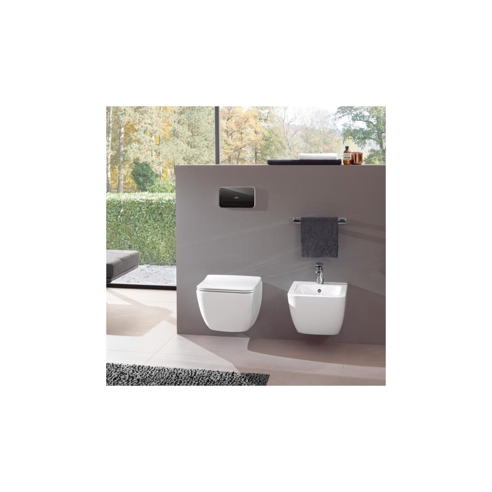 Foto Set Vas Wc Suspendat Legato direct Flush Bideu Capac Slim Soft Close Villeroy Boch