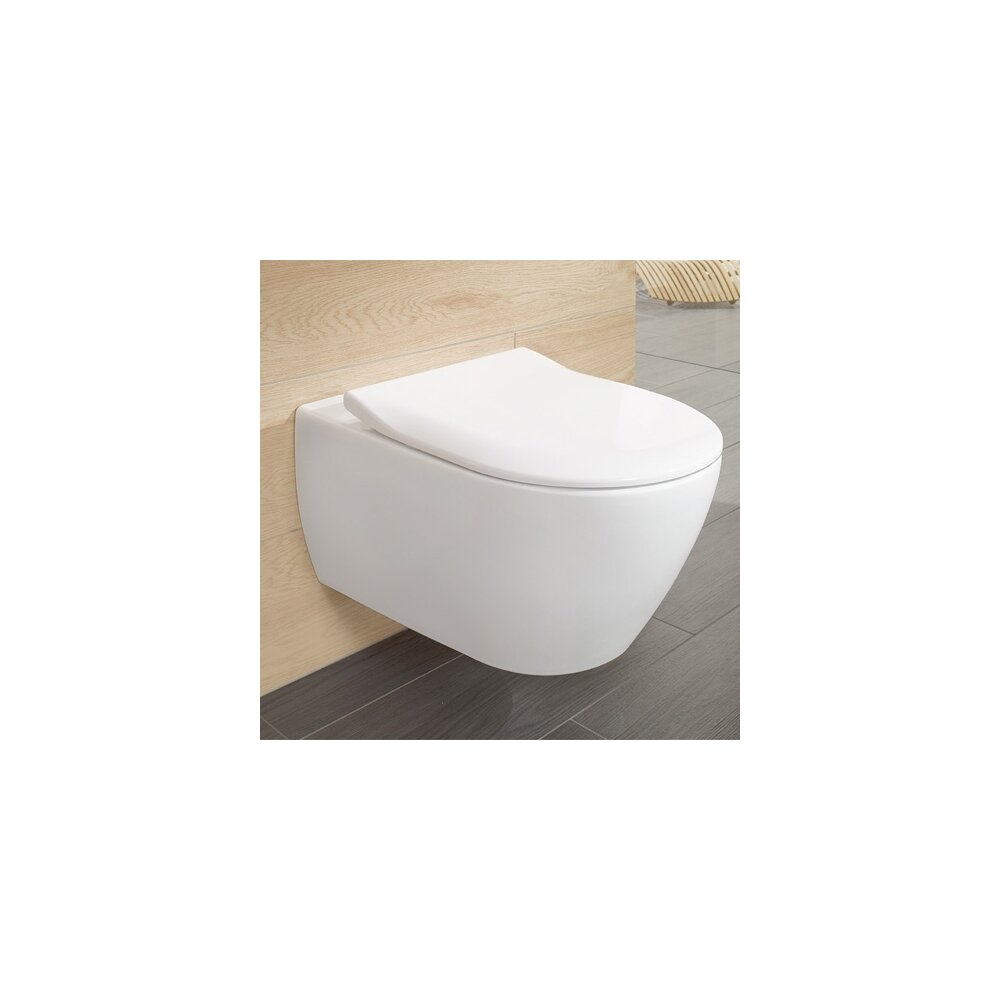 Set vas wc suspendat Villeroy&Boch Subway 2.0 cu capac slim soft close poza