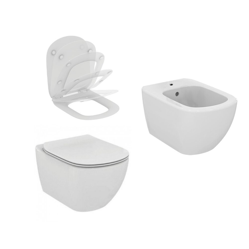 Set Vas Wc Capac Softclose Bideu Suspendat Aquablade Ideal Standard