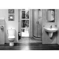 Set vas wc Vidima Style si rezervor pe pardoseala cu functie bideu slim