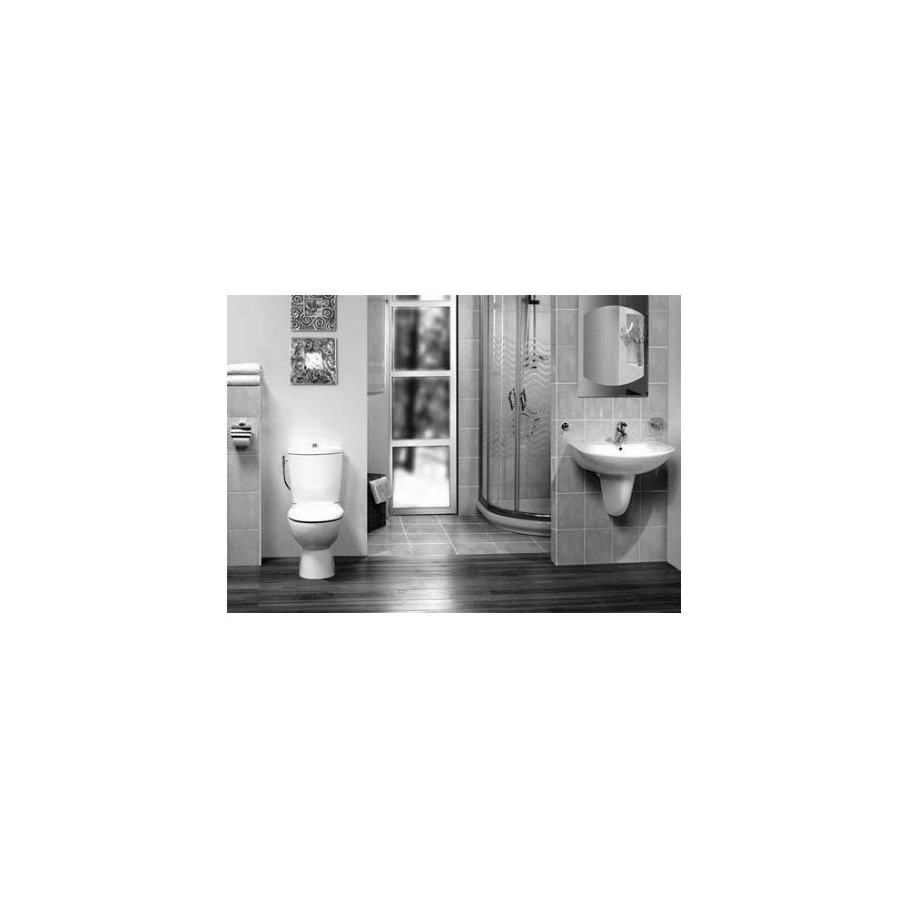 Set vas wc Vidima Style si rezervor pe pardoseala cu functie bideu slim imagine