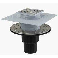 Sifon pardoseala 105 x 105/50/75 cu inaltator, iesire verticala, sistem de retinere a mirosurilor APV4344 Alcaplast