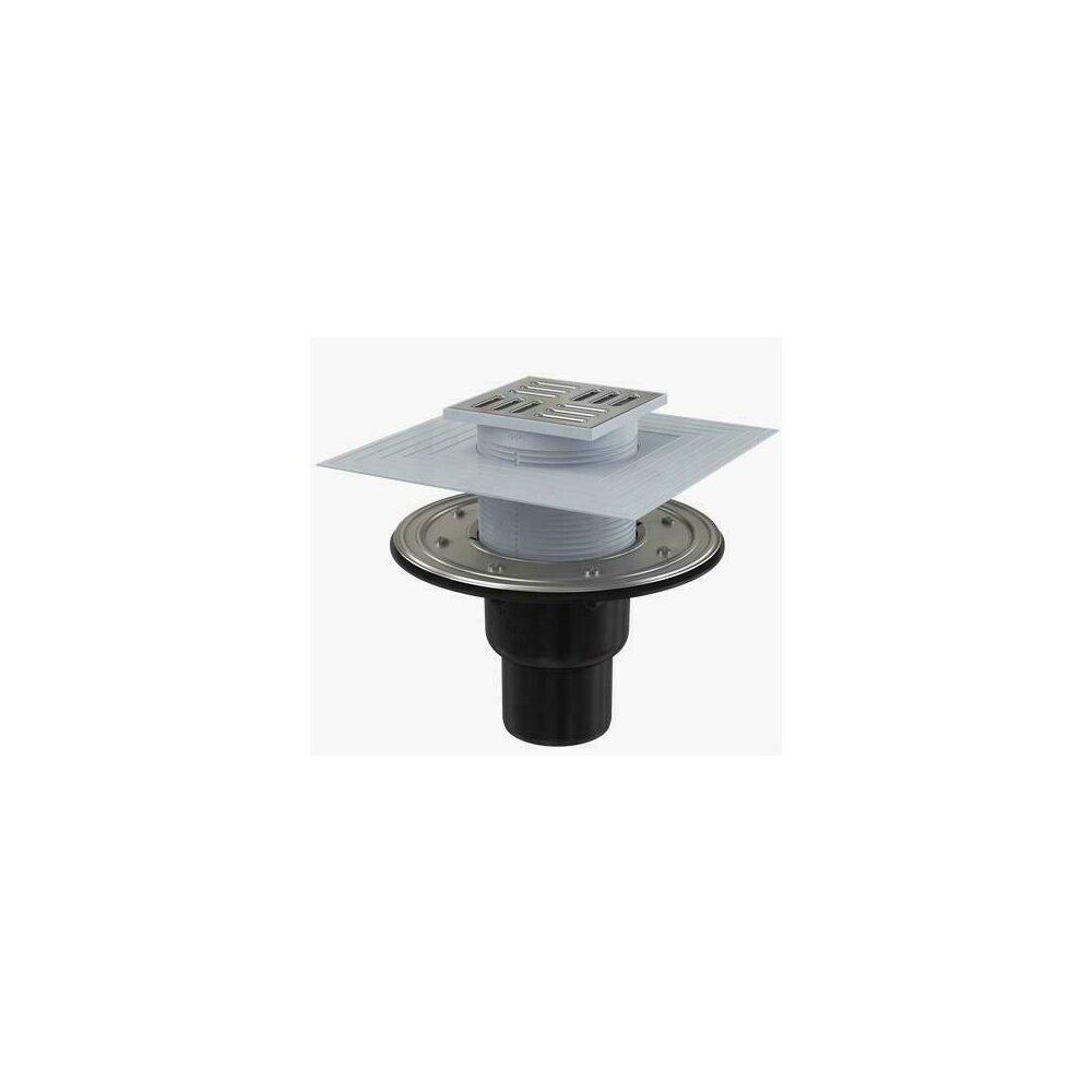 Sifon pardoseala 105 x 105/50/75 cu inaltator, iesire verticala, sistem de retinere a mirosurilor APV4344 Alcaplast poza