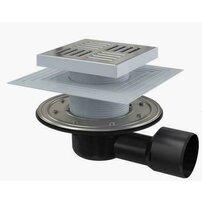 Sifon pardoseala 150 x 150/50/75 cu inaltator, iesire laterala, sistem de retinere a mirosurilor APV3444 Alcaplast